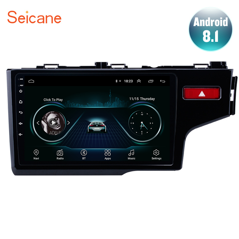 Seicane 10 1 Android 8 1 2 DIN Car Auto Stereo For 2014 2015 HONDA JAZZ