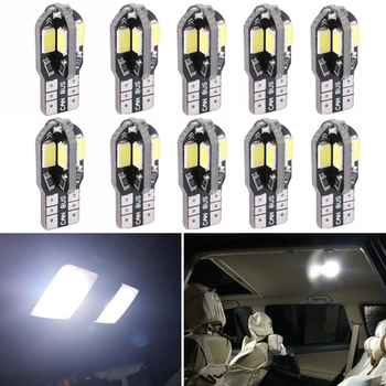 10x W5W T10 Error Free LED Car Lights For BMW e46 e39 e90 e60 e36 f30 f10 e30 x5 e53 e34 e87 f20 m Reading Dome Bulb Lamp 12V image
