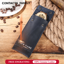 Handmade Vintage Leather Watch Collection Bag Vintage Travel Single Watch Bag Portable Watch Storage Box Protective Bag Gift