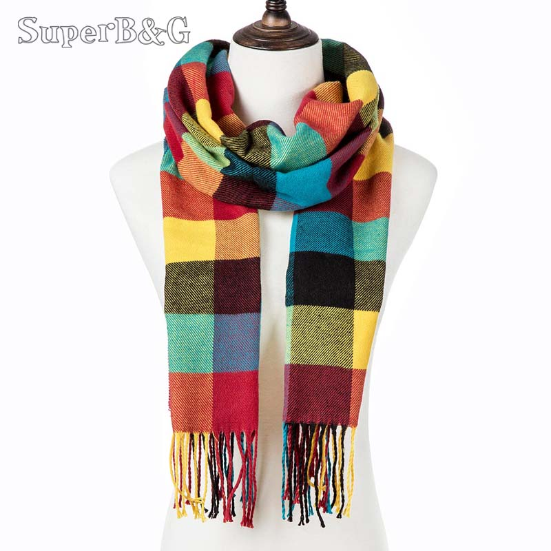 Shawl Scarf Women Bufandas Plaid Warm Winter Long Fashion Unisex Casual Hombre Lady