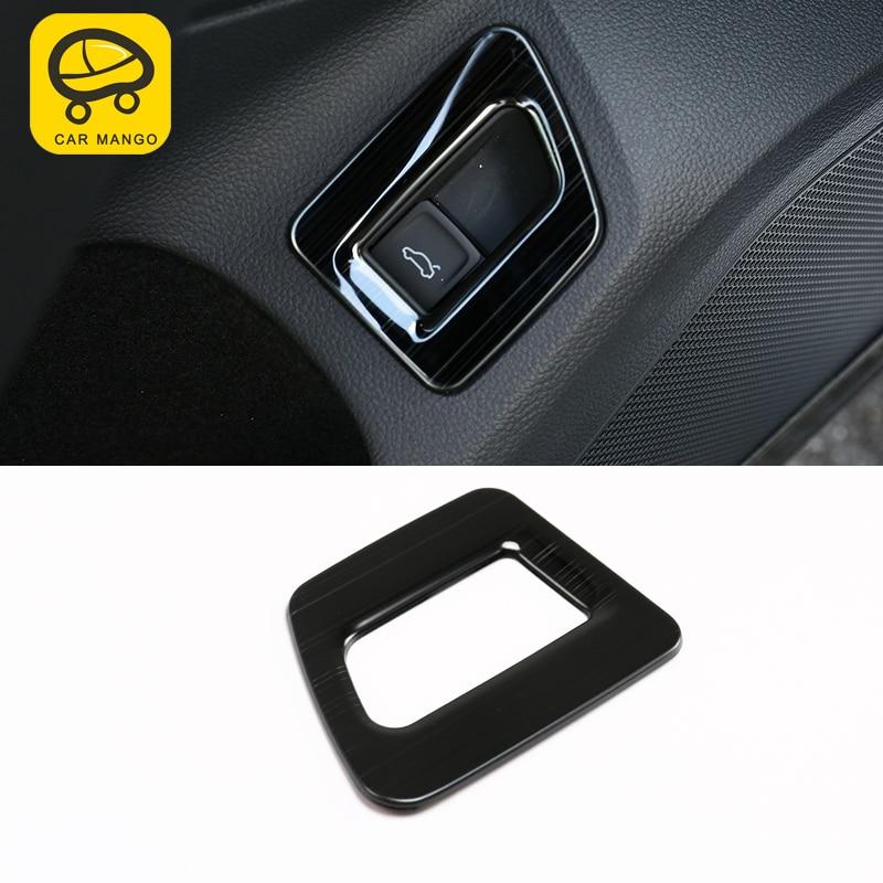 CARMANGO For VW Volkswagen Arteon 2019 Car Styling Inner Trunk Door Button Switch Cover Trim Frame Sticker Interior Accessories