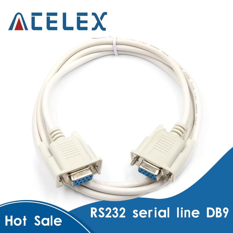 Seri kablo erkek kadın/erkek için erkek/kadın için kadın DB9 seri kablo RS232 uzatma kablosu yaklaşık 1.4 metre