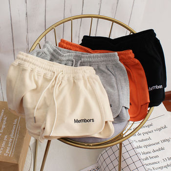 HOT Women Short Pant Summer Casual Lady All-match Loose Solid Soft Cotton Leisure Female Workout Waistband Skinny Stretch Shorts