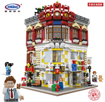 цена на Xingbao 01006 Lepining Creator Expert City Series The Bookstore Set Model Kit Building Blocks Bricks Toys For Children DIY Gifts