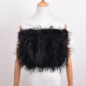 Ostrich-Hair-Bra Underwear Mini Women's Skirt New Coat Fur 100%Natural