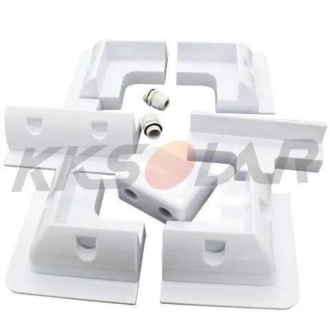 7 pces abs suporte de montagem do painel solar branco garagens veiculo para rv motorhomes