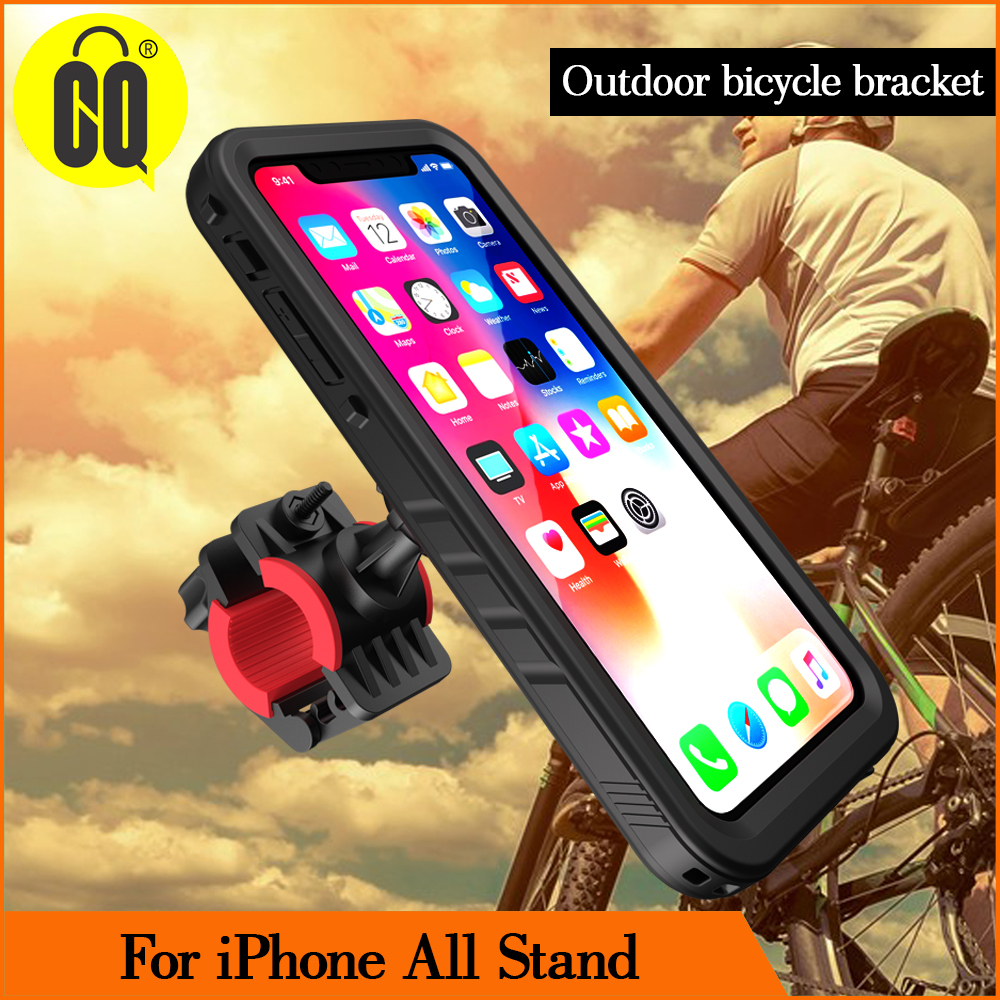 New Shockproof Bike Phone Holder for iPhone Xs 6, 7, 8Plus, X Riding Navigation Bracket Sports Bicycle Mount