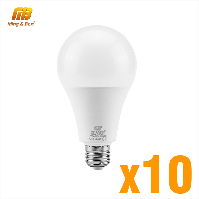 10PCS Lampada LED 220V 9W 12W 15W 18W E27 LED Lamp High Brightness Cold White Warm White Day White Smart House Bulb Lighting