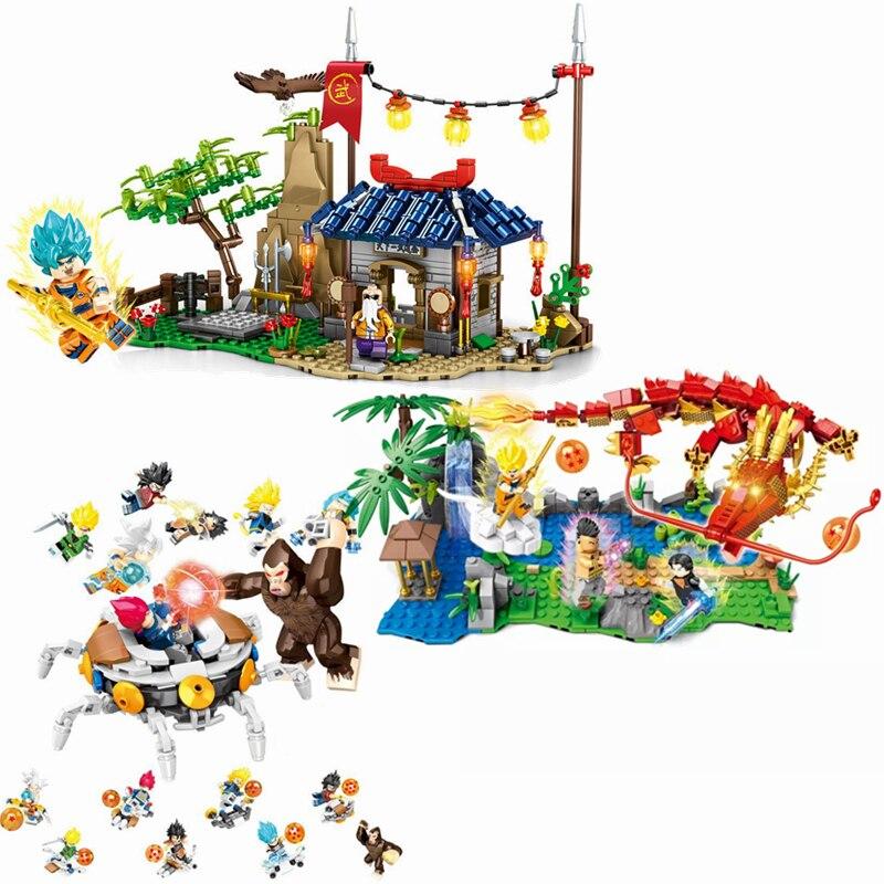 NEW Dragon COMICS Ball Son Goku Super Saiyan 4 Big Chaos Building Blocks Bricks Classic Model Kids Toys Compatible Lepining