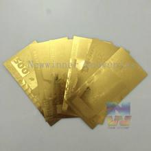 Jeu de billets d'or letton pièces/ensemble, 6 500, 24K, 100/10/5/50/20/Lats, papier-monnaie, cadeau créatif artistique