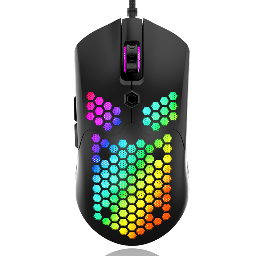 M5 Gaming Mouse 12000 DPI RGB Light PAW3325 Effect Wired Hollow Home Office Gaming Games Mice for Windows Mac OS Computer PC image