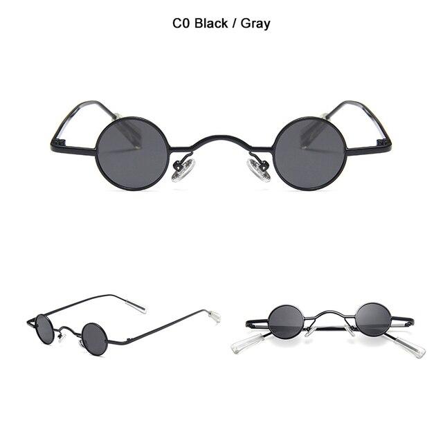 Classic Vintage Gothic Vampire Style Polarized Sunglasses Small Punk Sun Glasses