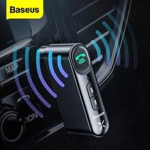 Baseus receptor de Audio inalámbrico Bluetooth 3,5, adaptador automático para altavoz de coche, auriculares, manos libres con micrófono, 5,0mm
