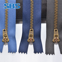 SBS zipper Pants of metal chain Entrance guard zipper and bronze trouser chain Jeans zipper pocket seal wallet jacket zipper