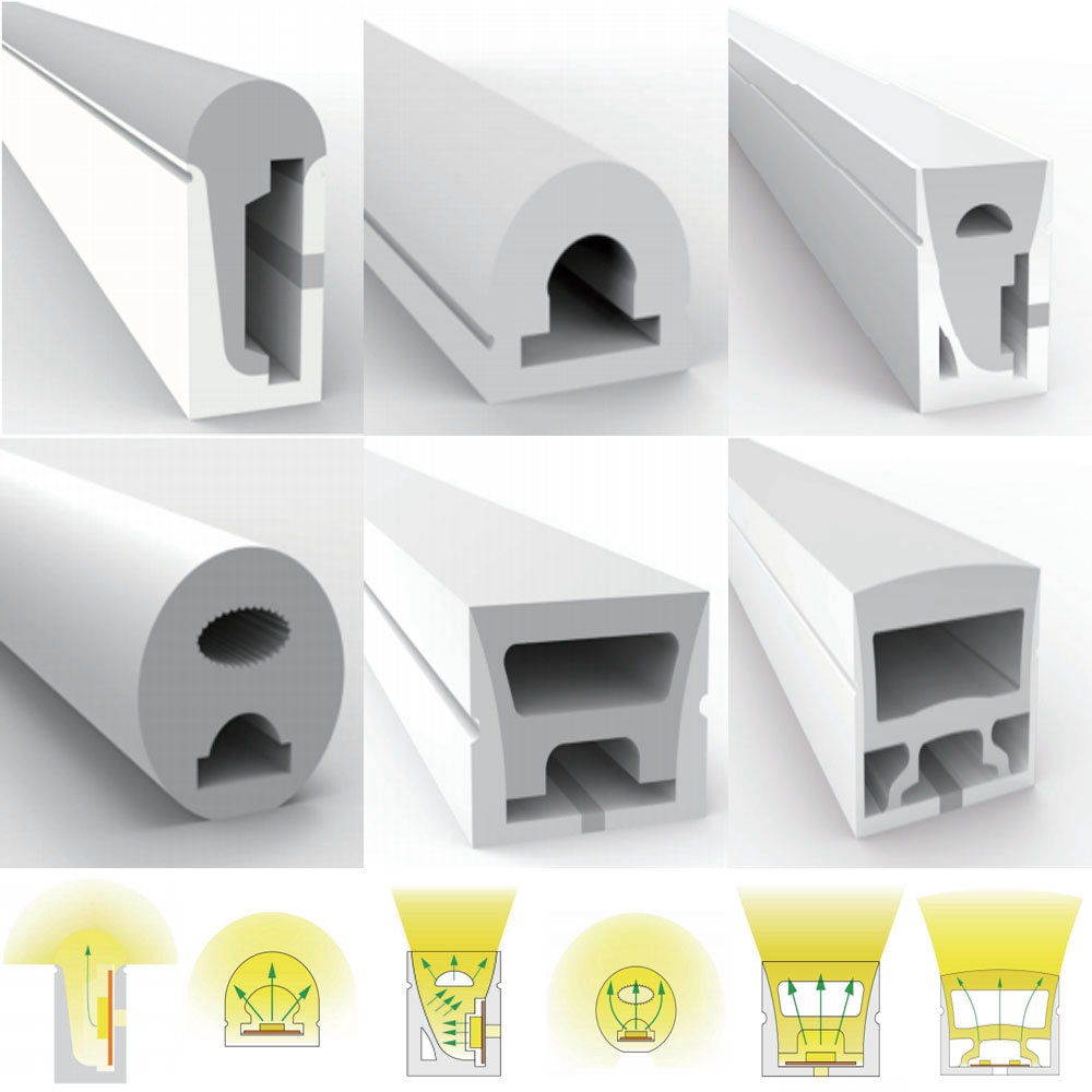 WS2812B WS2811 WS2813 WS2815 5050 LED Neon Rope Tube Silica Gel Flexible Strip Light Soft Lamp Tube IP67 Waterproof