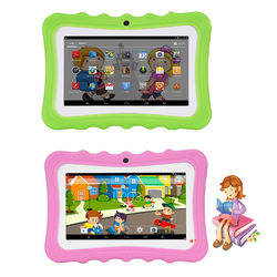 7'' Kids Tablets PC 1G+16G Quad-Core Wi-Fi Tablet-PC Pad with Shock-Proof Silicone Protective Case for Children Educational Gift