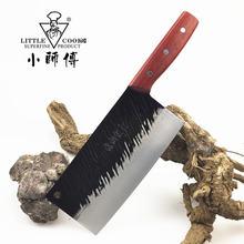 Маленький кухонный нож повара лазерный дамасский узор фиксированное