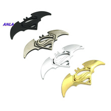 1pcs 3D Metal Bat Logo Car Stickers Styling for Batman Superman Badge Emblem Tail Decal Motorcycle Accessories Auto