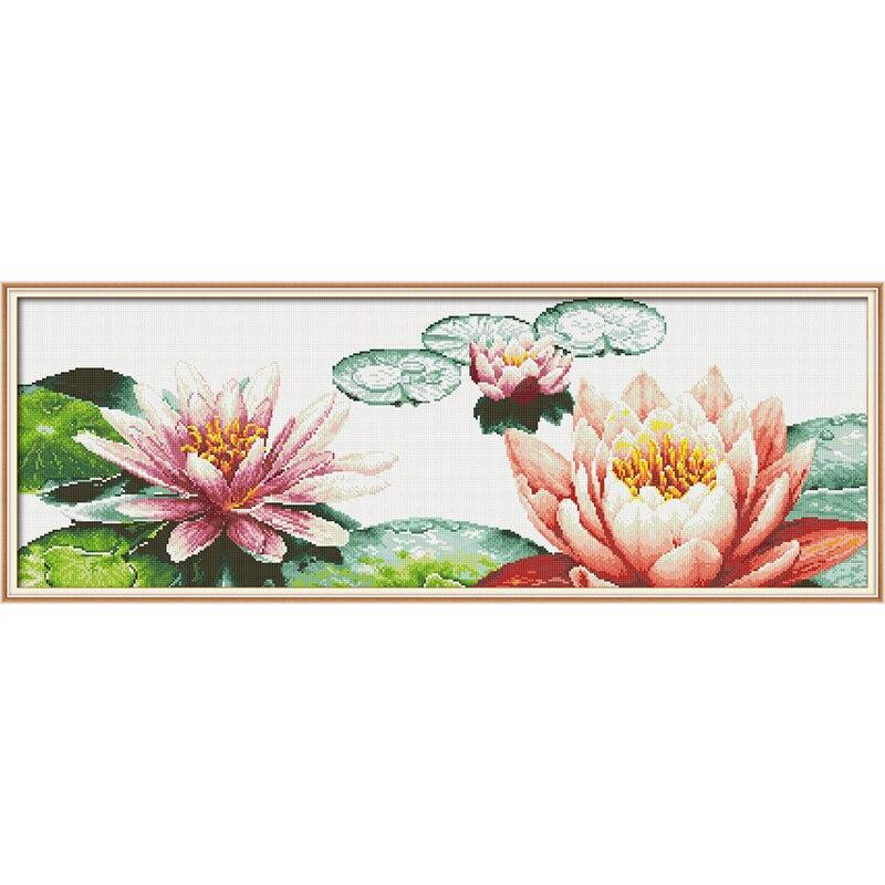 Amour éternel Lotus en été chinois 5d diamant peinture pleine carré décorations de noël pour la maison de mariage halloween cadeau