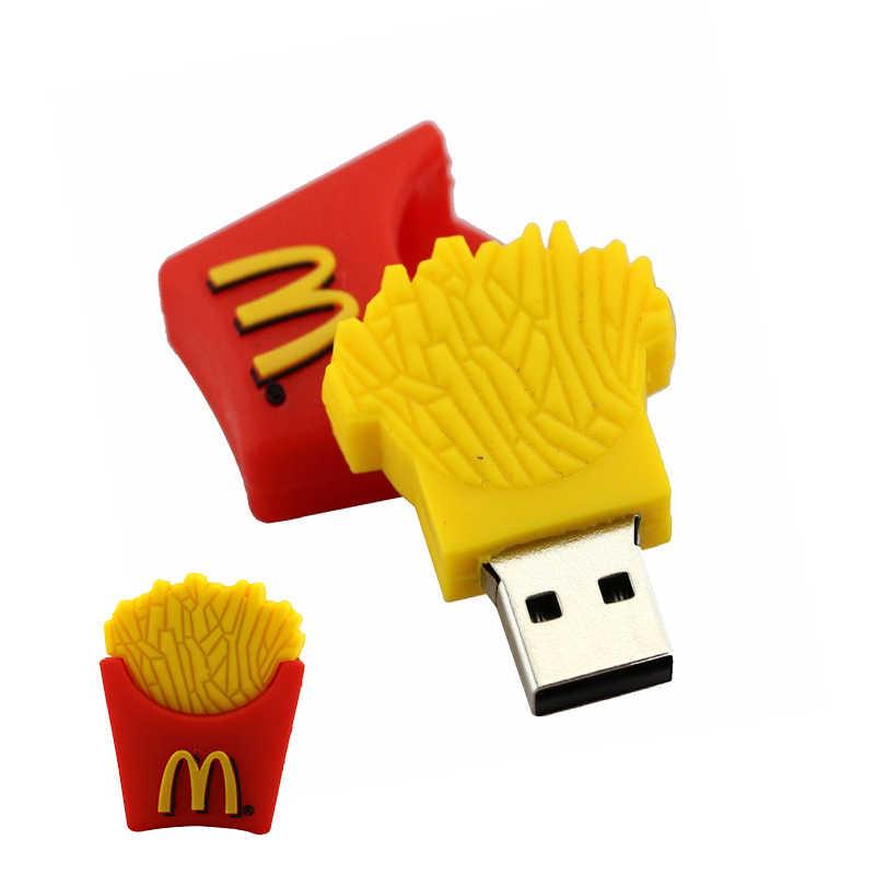 USB דיסק און קי מקדונלד שבבי צרפתית frie Pendrive 4GB 8GB 16GB 32GB 64GB 128 256 gb USB2.0 cle usb עט כונן זיכרון דיסק מקל