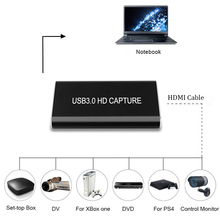 Full HD USB3.0 1080P HDMI Video Capture Cardกล่องมาตรฐานสำหรับWindows/Linux/Mac HDMI Capture