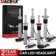 Araba LED far ampulü işık lamba küre bakır kemer 100W 10000LM H7 H1 H8 H9 H11 9005 HB3 9006 HB4 9012 HIR2 H3 H4 Hi Lo 12V 24V