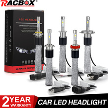 سيارة LED مصباح أضاءه أمامي ضوء مصباح غلوب النحاس حزام 100W 10000LM H7 H1 H8 H9 H11 9005 HB3 9006 HB4 9012 HIR2 H3 H4 مرحبا لو 12V 24V