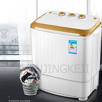 5KG Small Mini Washing Machine Home Double Barrel Semi automatic Portable With Dehydration Spin Dry Washer Household Appliances