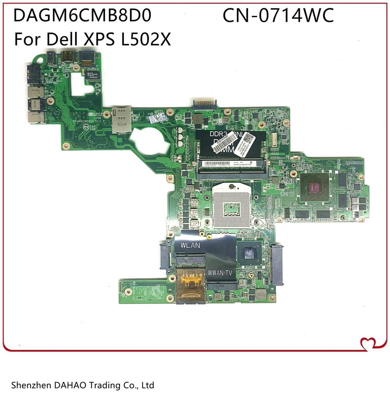 CN-0714WC 0714WC для Dell XPS L502X Материнская плата ноутбука DAGM6CMB8D0 основная плата с HM67 GT540M 2GB-GPU 100% полностью протестирована