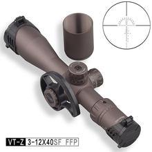 Discovery-mira telescópica compacta VT-Z 3-12X40SF FFP, primer plano Focal, retícula de vidrio grabada, para caza, con rueda de paralaje