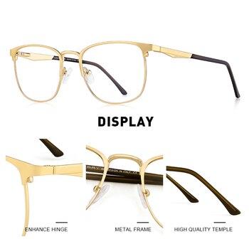 MERRYS DESIGN Men Luxury Prescription Glasses Fashion Myopia Prescription Eyeglasses Male Vintage Style Optical Glasses S2060PG