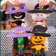 Halloween Candy Bag Children Kindergarten Trick Or Treat Party Begging Sugar Bag Witch Pumpkin Bag Halloween Party Hand Gift Bag