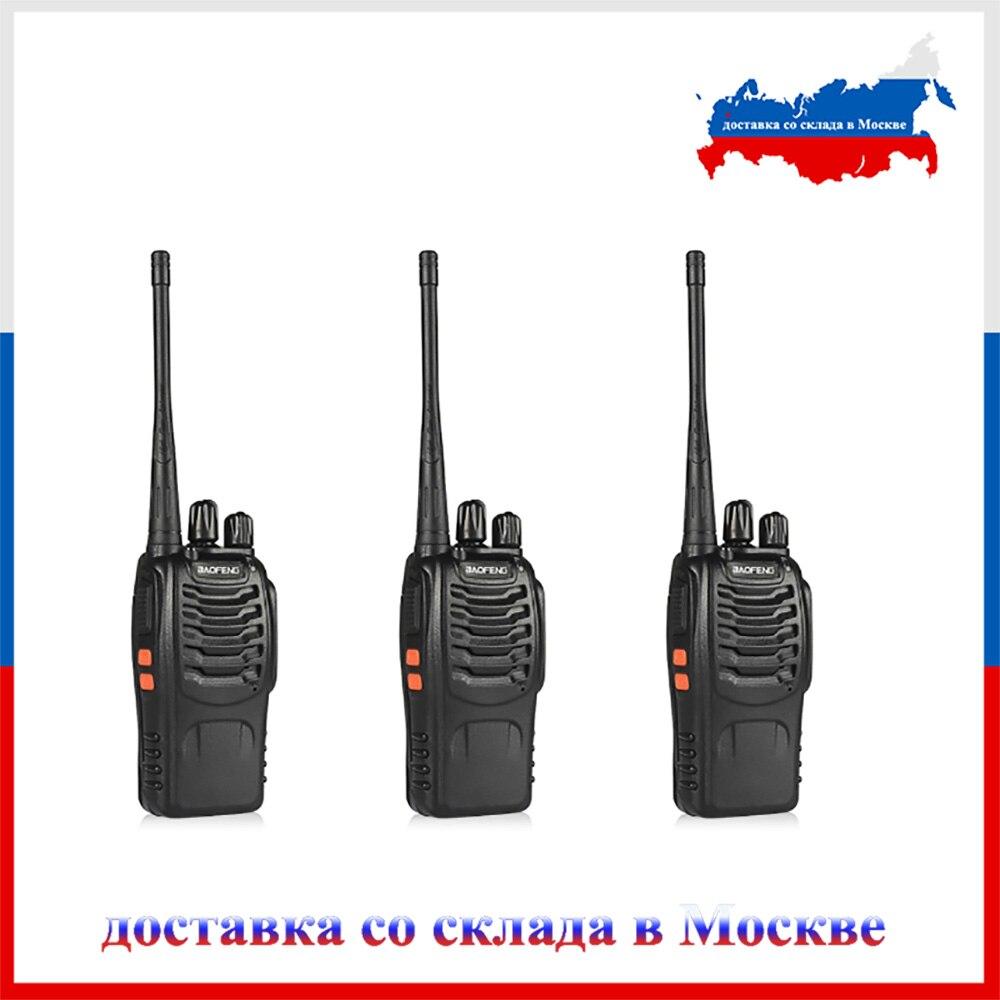 3Pcs/set Baofeng BF-888S Walkie Talkie Portable Radio Station BF888s 5W BF 888S Comunicador Transmitter Transceiver Radio Set