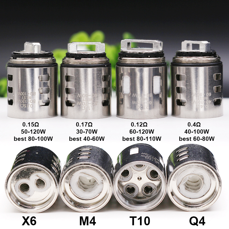 3pcs V12 Prince M4/Q4/X6/T10 Replacement Coil 0.17/0.4/0.15/0.12ohm Atomizer Core For TFV-12 Prince Tank