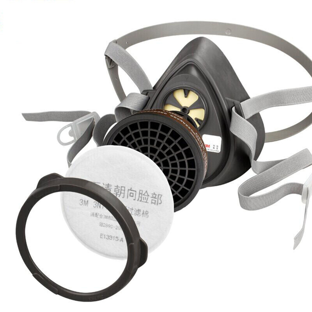 3M 320P Dust Mask + 3701CN Filter cotton Half Face Dust-proof Mask Anti Industrial Construction Dust Haze Fog Safety Gas Mask 3