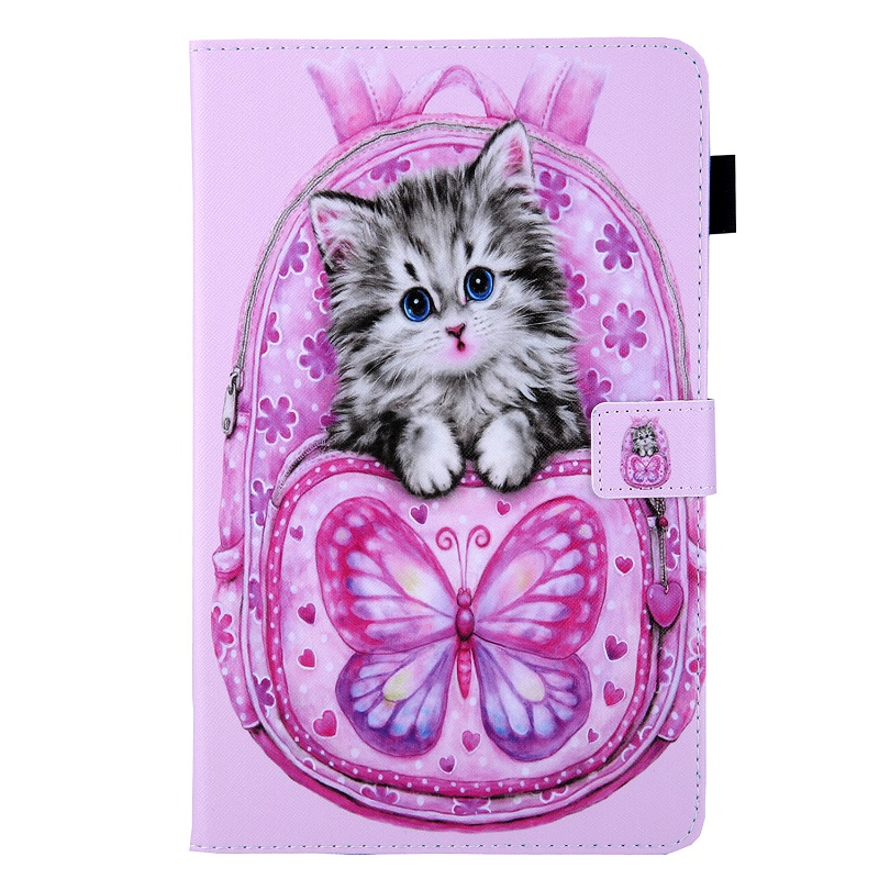 Butterfly Cat Purple Case for New iPad 10 2 2019 Tablet Funda Magnetic Stand Smart Cover for iPad 7th