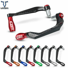 "7/8"" 22mm motorcycle Accessories motor CNC Aluminum Handlebar Grips Guard Brake Clutch Levers Guard Protector For Honda CB599"
