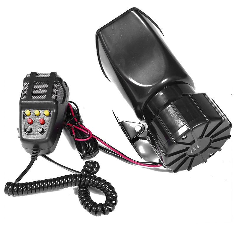 7-Geluid Luid Auto Waarschuwing Alarm Politie Brand Sirene Air Bugle Pa Speaker 12V 100W Sirene Air hoorn Megafoon Auto Hoorn 110DB 5