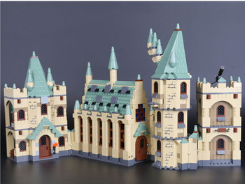 [Funny] Large size 1340pcs The Hogwarts castle Set Building Blocks movie King's Palace model kids child gift