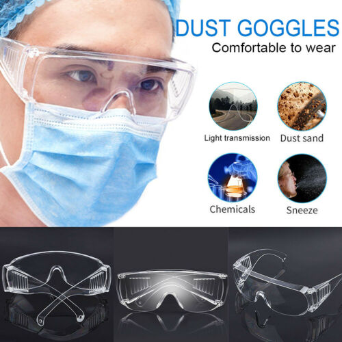 Anti Fog Dust Splash-proof Glasses Work Eye Protection Fully Sealed  Work Lab Accessory Splash Proof Translucent Clear Goggle