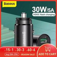 Baseus 30W PPS Schnell Auto Ladegerät 4A VOOC-Lade Für OPPO R17 R17 Pro Reno FindX Ein Plus 7Pro 6 6T QC 3,0 Auto Ladegerät