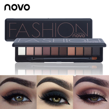 NOVO Brand Matte Shimmer Glitter Eyeshadow Palette Makeup Kit Earth Color Eye Sh