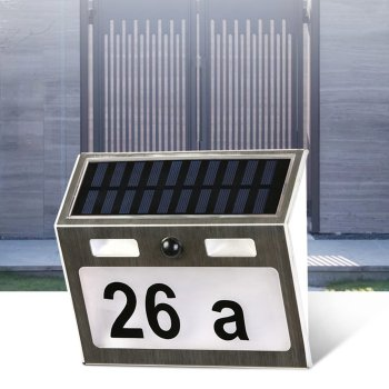 Polysilicon house number lamp Solar Power LED Light Sign House Hotel Door Address Plaque Number Digits Plate house number outdoor led solar light motion sensor door number plate house address numbers and letters waterproof doorplate