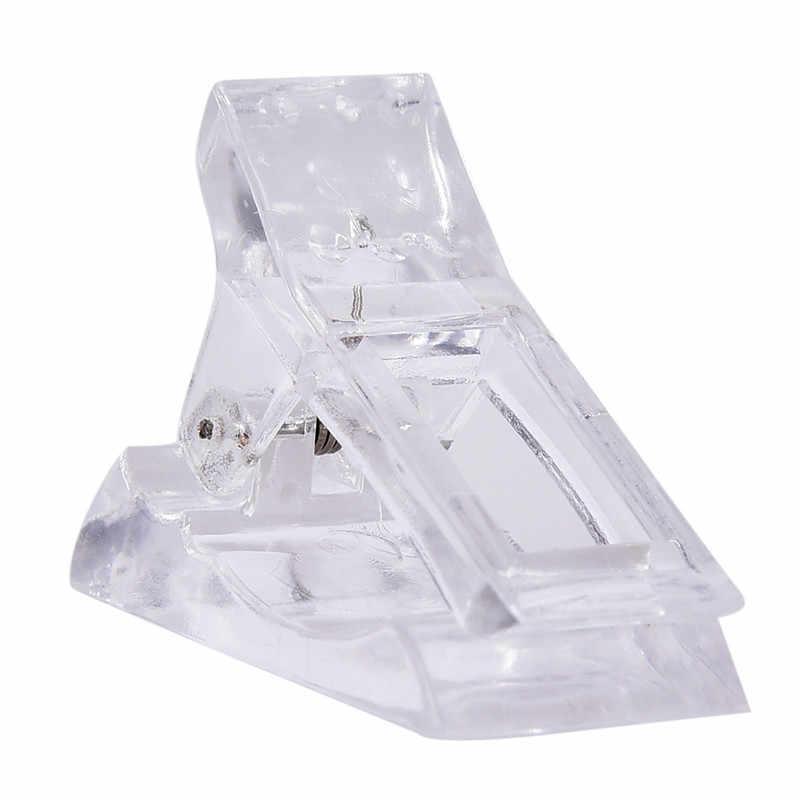 1Pcs Valse Nail Tips Clip Voor Vinger Extension Uv Led Plastic Nail Art Uv Builder Gel Manicure Poly Gel quick Building Mold