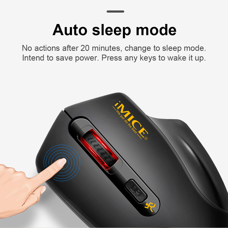 USB Wireless Mouse 2000DPI USB 2.0 Receiver Optical Computer Mouse 2.4GHz Ergonomic Mice For Laptop PC Sound Silent Mouse 5