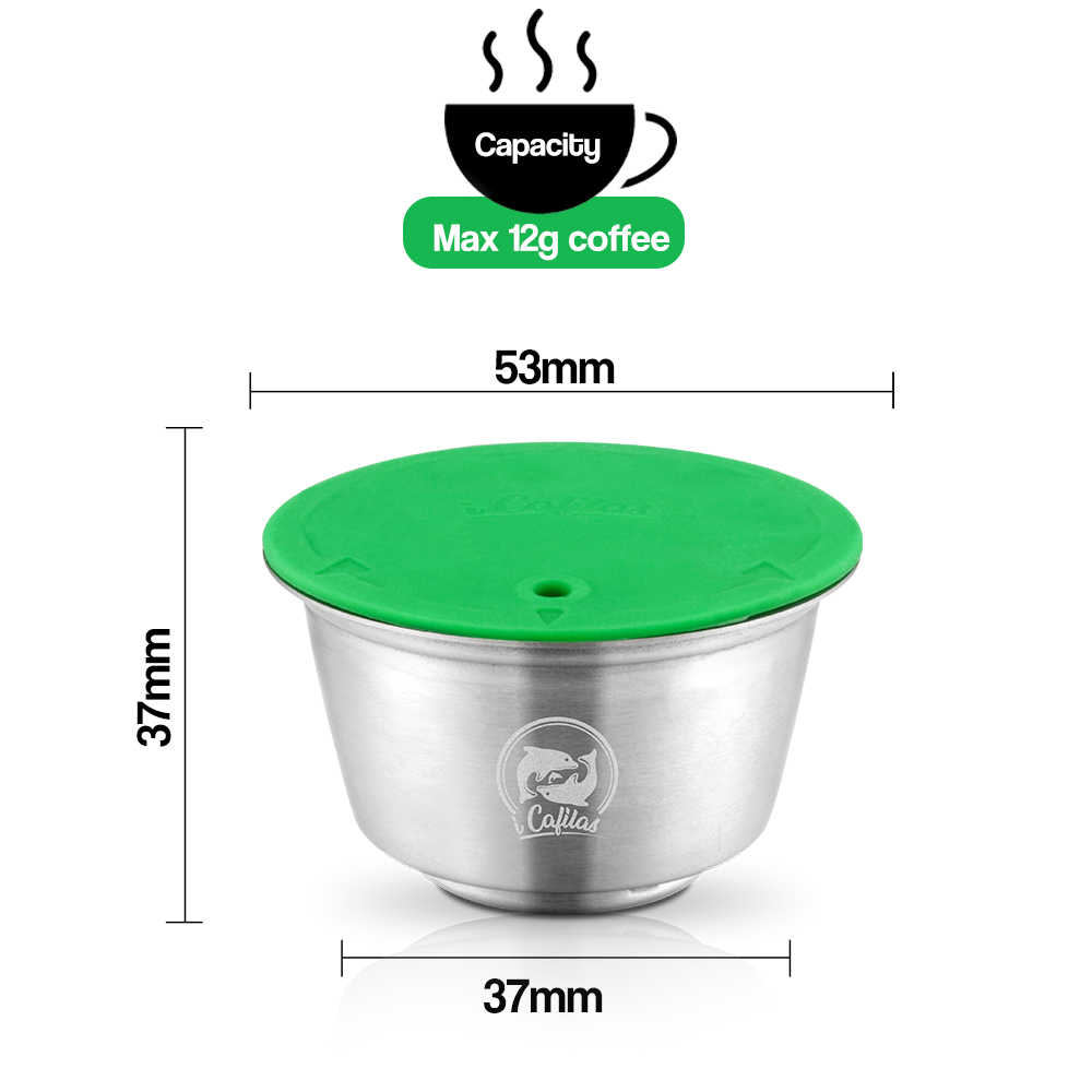 iCafilas For Nescafe Dolce Gusto Crema Coffee Filters Cup Stainless Steel Refillable Reusable Coffee Capsule Pod Dolci Gusto