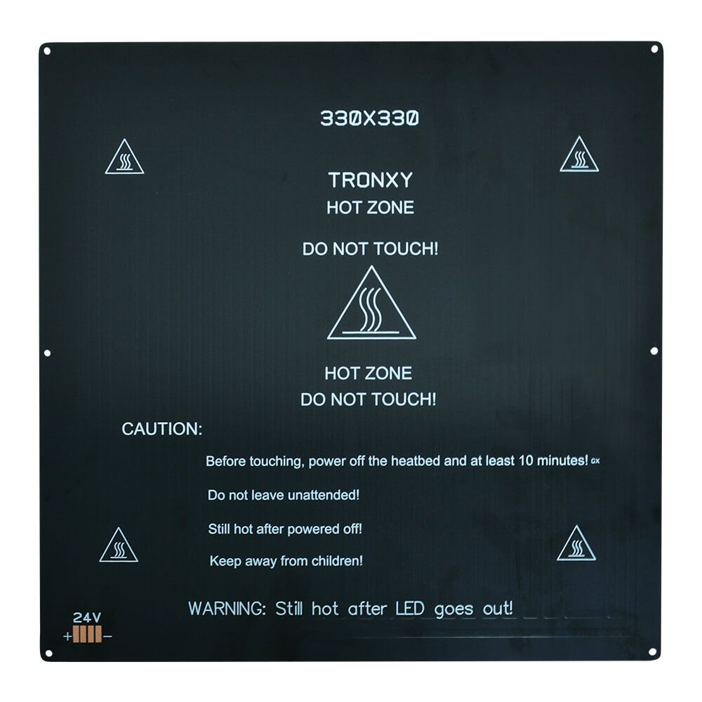 330*330mm da impressora 3d tronxy que imprime