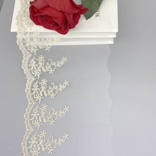 Mesh Fabric Embroidery Trim Ribbon Diy Bridal-Dress Wedding-Gold Craft Sewing Lace Applique