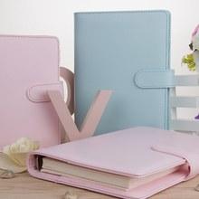 Cuaderno de agenda A5 A6, a prueba de cuero Pu, diario con agenda, diario, carpeta, material escolar, cuaderno de macarrón