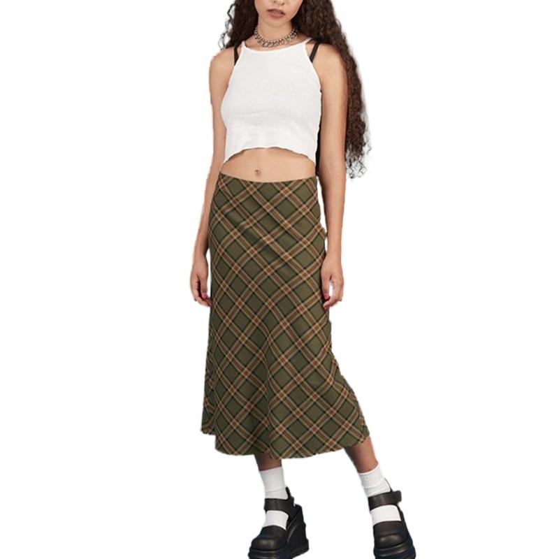 Женская одежда, длинная юбка, длинная юбка, модная, в стиле ретро, Y2K, летние брюки, женские модные юбки 2020 y2k
